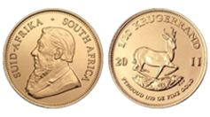 South African Gold Krugerrand - one-half ounce
